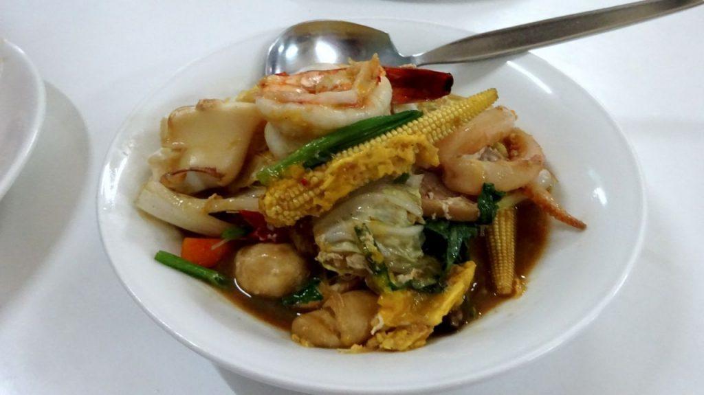 Plato de marisco del restaurante Jay Fai